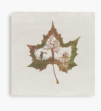 The Memories of a Leaf: Good Bye Canvas Print