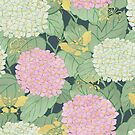 Hydrangeas and Butterflies - Such A Perfect Summer Day by Paula Belle Flores