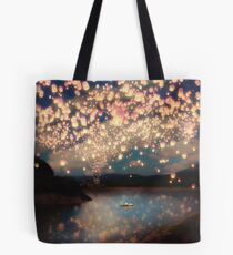 Wish Lanterns for Love Tote Bag