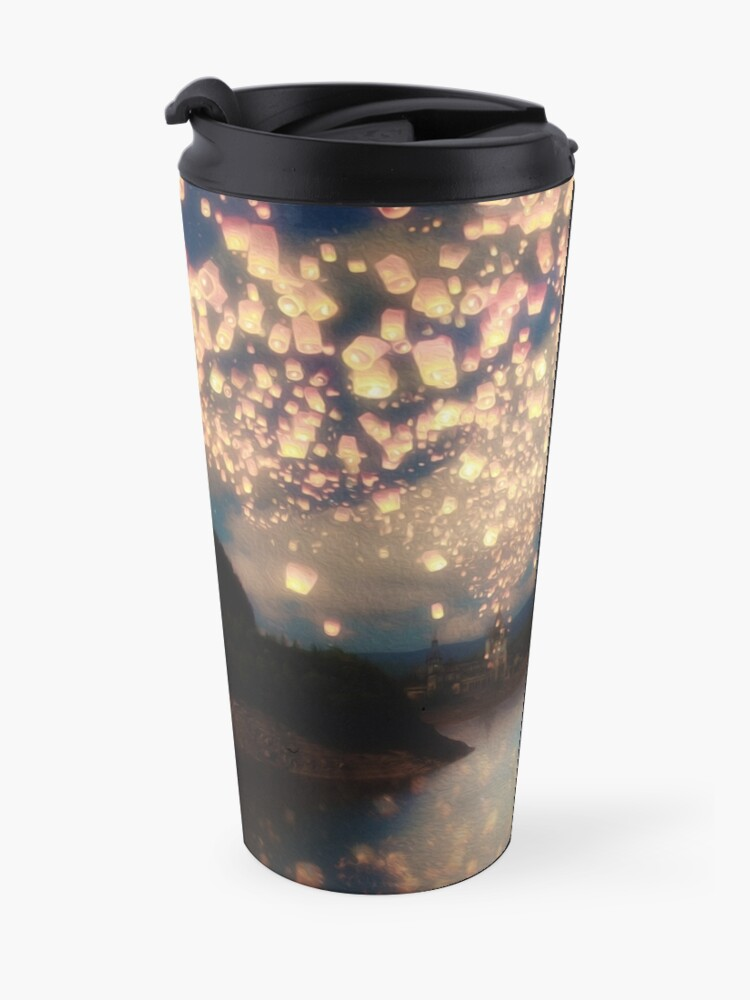 Alternate view of Wish Lanterns for Love Travel Mug