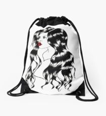 Blackwater girl - Blue eyes Drawstring Bag