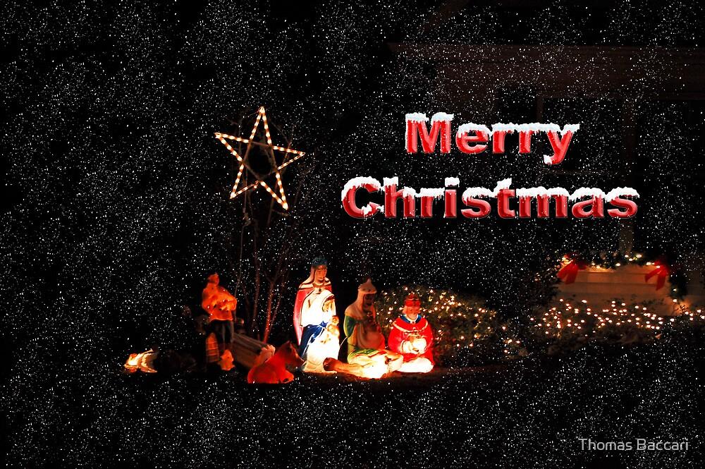 """merry christmas card  baby jesus""tj baccari"