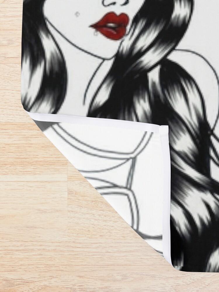 Alternate view of Blackwater girl - Cap Shower Curtain
