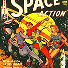 Weltraumaktion Retro Comic von MaskedMarvel