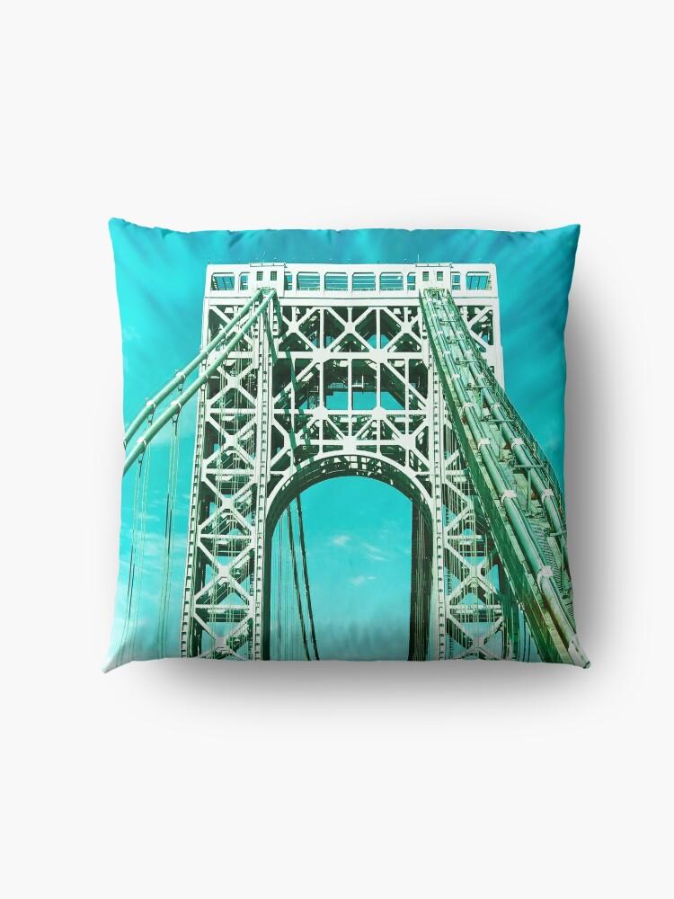 Alternate view of Gift for New Yorker - George Washington Bridge - New York City Lover Floor Pillow