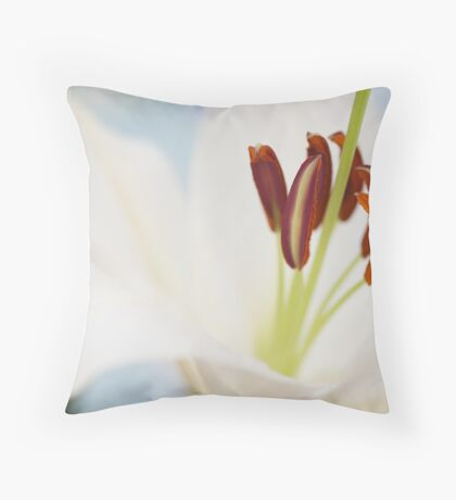 In the heart of a flower Throw Pillow