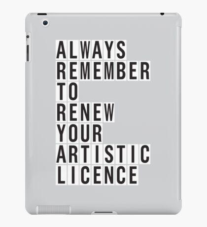 LICENCE RENEWAL iPad Case/Skin