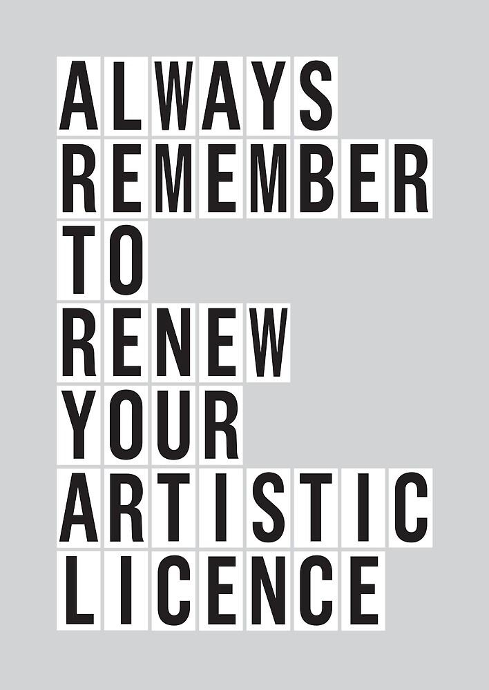 LICENCE RENEWAL by Steve Leadbeater