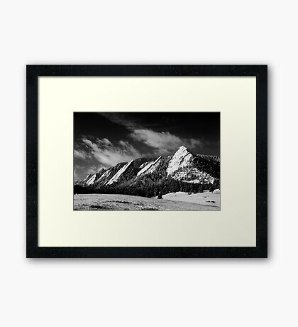 The Majestic Flatirons Framed Print