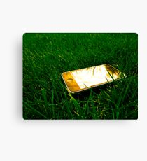Golden iPhone on the lawn Canvas Print