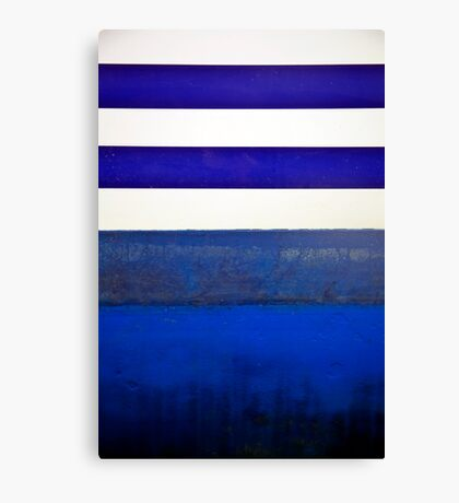 Boat Abstract in Blue Canvas Print