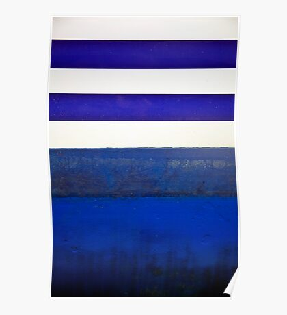 Boat Abstract in Blue Poster
