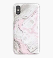 Suminagashi Love, Gray and Pink iPhone Case