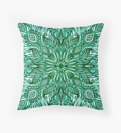 - Emerald pattern - Throw Pillow