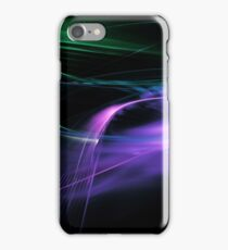 Fractal Flame Abstract line dinamic Background iPhone Case/Skin