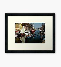 Christianshavn, Copenhagen, Denmark. 1980s Framed Print