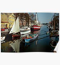 Christianshavn, Copenhagen, Denmark. 1980s Poster