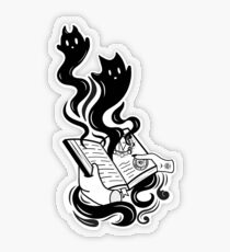Demon Book Transparent Sticker