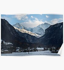 Mönch, Jungfraujoch and Jungfrau Poster