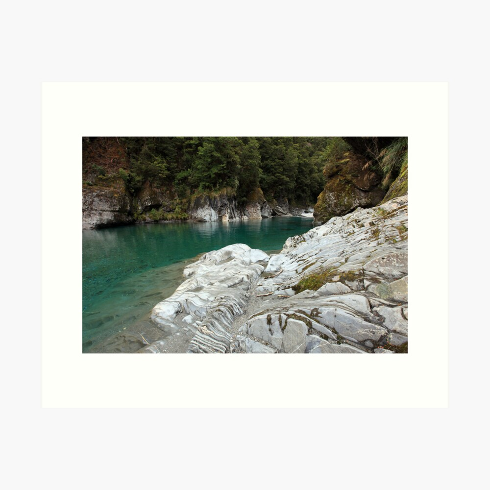 Blue Pools, West Coast, South Island, New Zealand Art Print