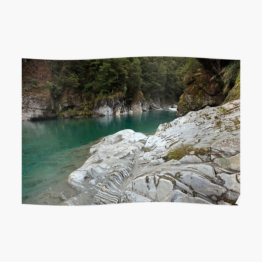 Blue Pools, West Coast, South Island, New Zealand Poster
