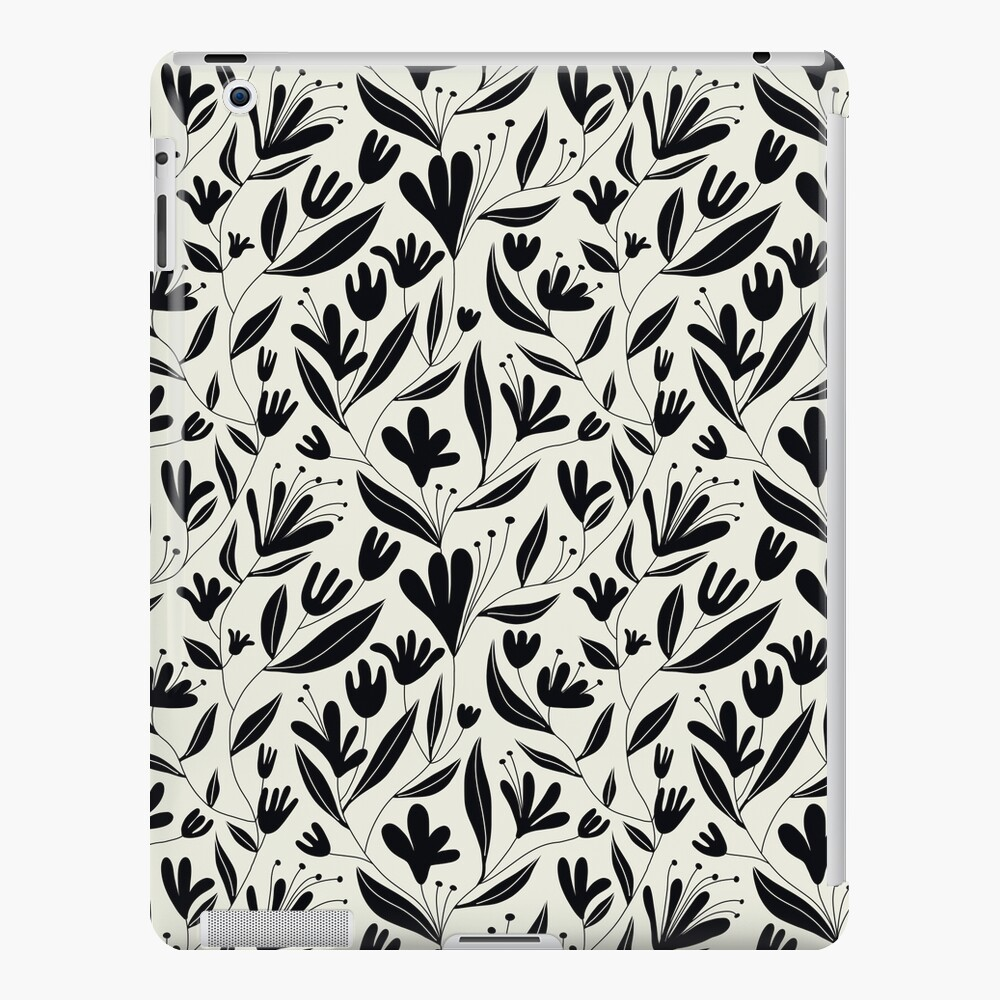 Black bloom iPad Case & Skin