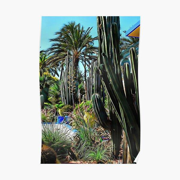 Giant Cacti Jardin Majorelle Poster