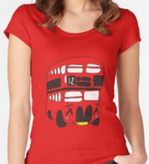 Cute London Bus Women's Fitted Scoop T-Shirt