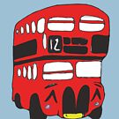Cute London Bus by Zozzy-zebra