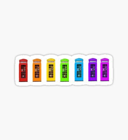 Rainbow Phone boxes  Sticker