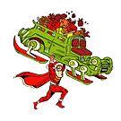 Action Christmas -  Super Mr Santa! by Jokertoons