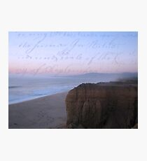 she sent him love letters written on the ocean sky Photographic Print