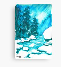 Snowy Creek Banks Canvas Print