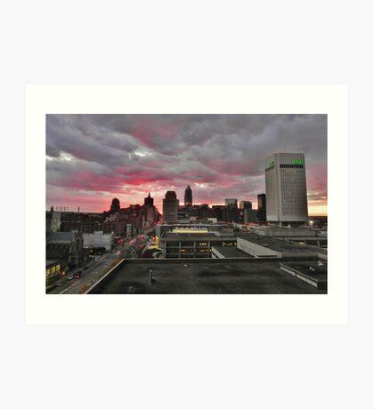 Downtown Cleveland Skyline  Art Print