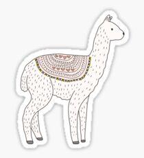 Llama Drawing Sticker
