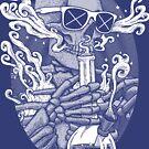 «Enciéndelo - Bong Skeleton Halftone» de Garyck Arntzen