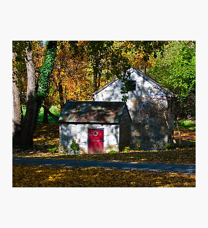 Fall Surrounds the Spring House Photographic Print