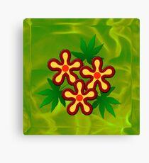 Flower - Green Canvas Print