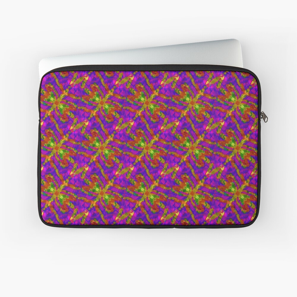 Firefly Pattern Pink Laptop Sleeve