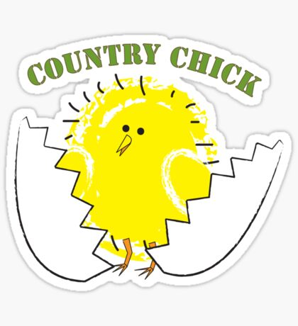 Country Chick Sticker