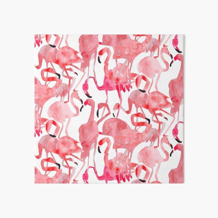 Flamingo Flamboyance Art Board Print