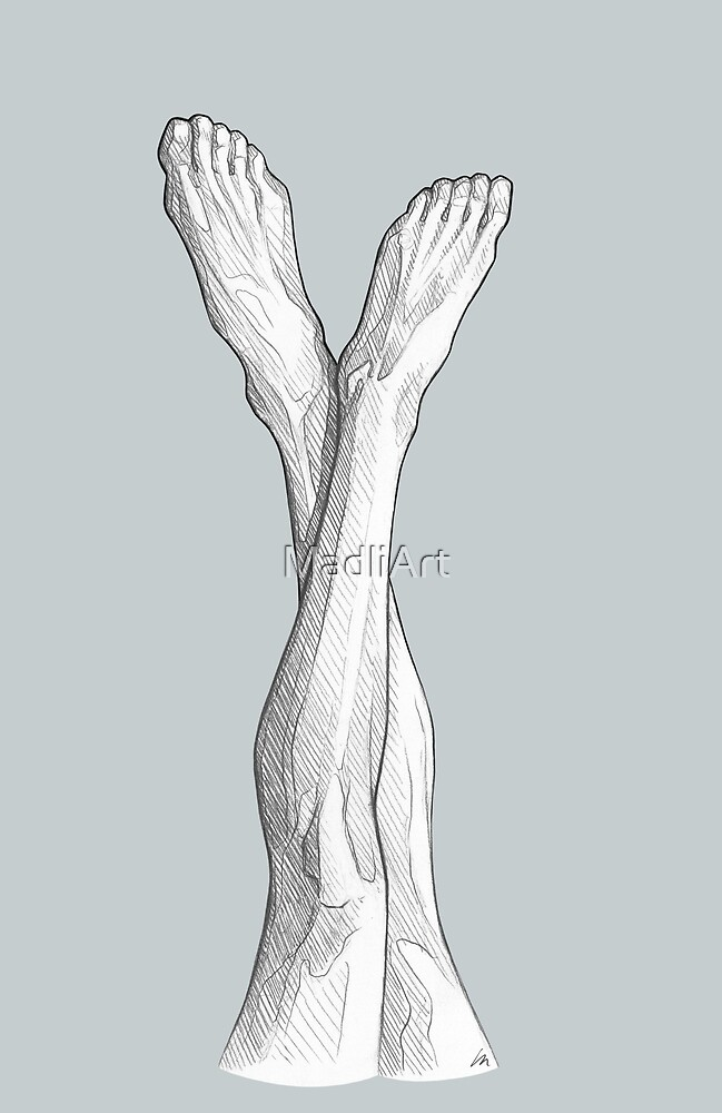 Long legs - line art pencil sketch by MadliArt