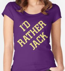 I'd Rather Jack Women's Fitted Scoop T-Shirt