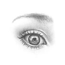 Surprised eye - realistic pencil sketch by MadliArt