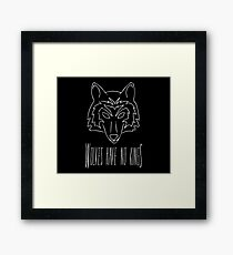 Wolves Have No Kings 2 Framed Print