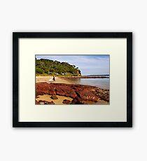 Bar Beach at Merimbula Framed Print