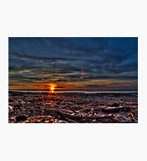 Deep sunset Photographic Print