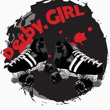 Roller Derby Girl logo by Bluebelly