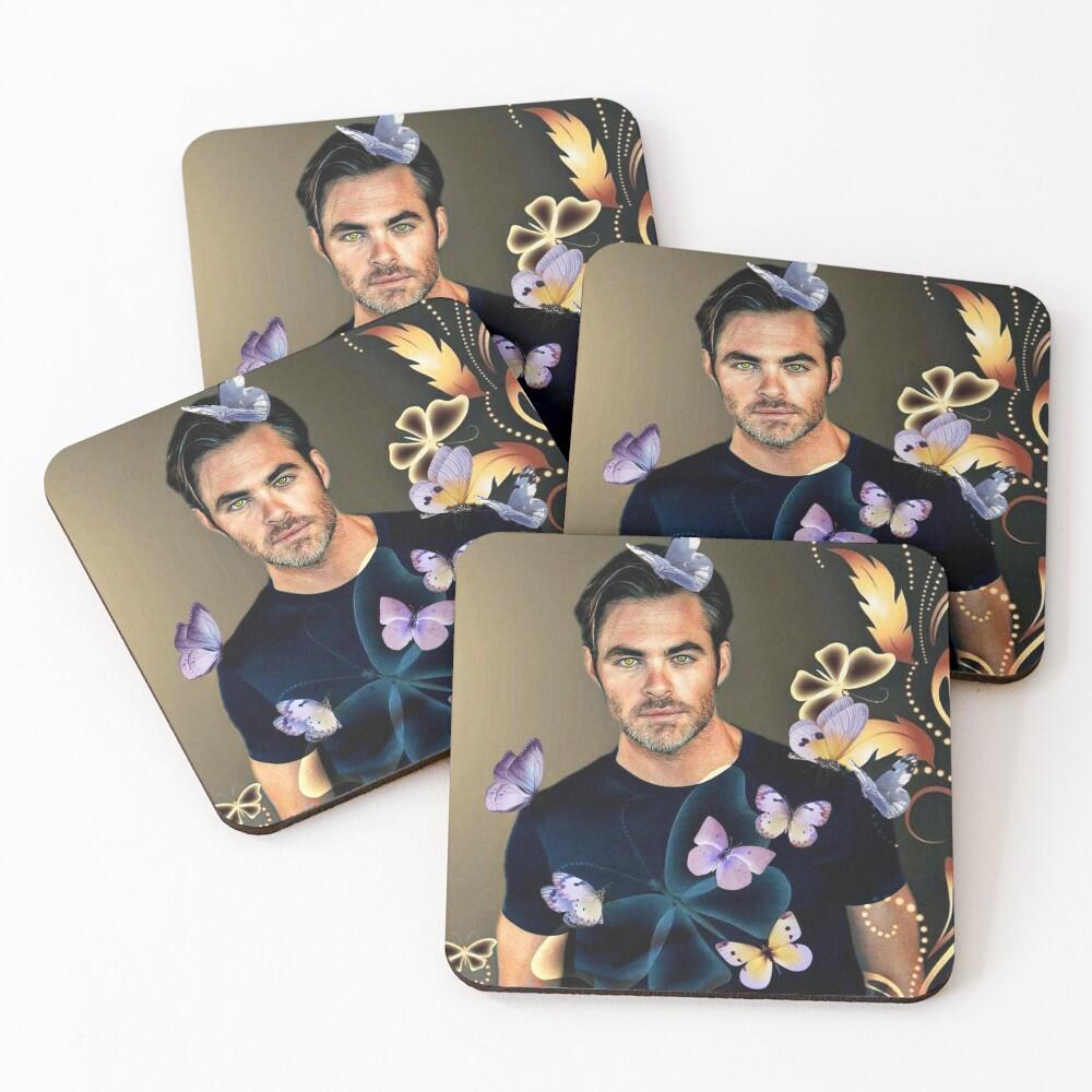 Chris Pine Coasters (Set of 4)