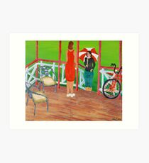 Hi, Come in for a Chat. Art Print